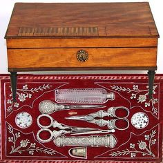 mid-late 1700s--beautiful sewing box.