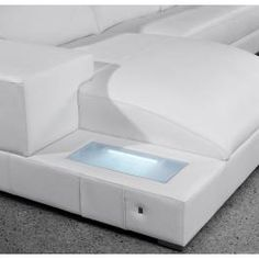 Orion - White Leather Sectional Sofa Set