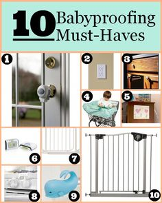 10 Must-have babyproofing items to add to your registry // blog.rightstart.com @evolvingmommy