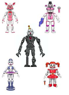 Funko FNAF Sister Location Articulated Action Figures Complete Set Gift Set Bundle - Includes Fun Time Freddy, Fun Time Foxy, Ballora, Baby and Ennard. Five Nights at Freddys Action Figures. Five Nights At Freddy's, Fnaf Action Figures, Hot Toys Iron Man, Freddy 's, Fnaf Sister Location, Circus Baby, Cool Lego Creations, Anime Fnaf, Pokemon Pictures