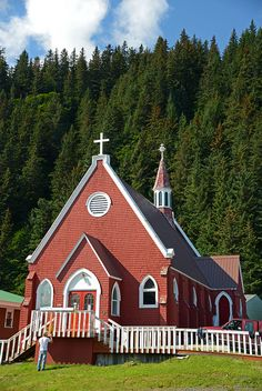 St. Peters Episcopal, the little red church in Seward, Alaska