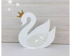 Check out our swan princess room decor selection for the very best in unique or custom, handmade pieces from our shops. 1st Birthday Party For Girls, Girl Birthday Themes, Princess Room Decor, Diy And Crafts, Paper Crafts, Baby Room Diy, Bear Wallpaper, Cement Crafts, Wood Cutouts