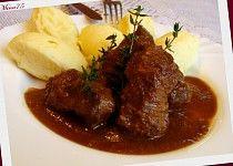 Voňavá vepřová líčka s červeným vínem a bylinkami Mashed Potatoes, Food And Drink, Beef, Ethnic Recipes, Whipped Potatoes, Meat, Smash Potatoes, Steak