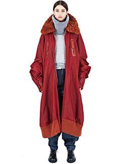 Hannah Jinkins XXL Waxed Cotton Bomber Coat