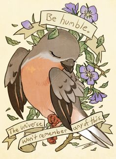 Be Humble Passenger Pigeon - A gallery-quality illustration art print by reapersun for sale.