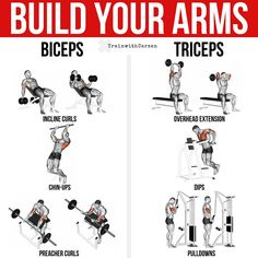 Building your arms should not be a complicated process, however, understanding the different muscle heads is key in order to maximally build them. To train th Push Workout, Gym Workout Tips, Weight Training Workouts, 300 Workout, Fitness Workouts, Mens Bicep Workout, Biceps Workout, Jillian Michaels, Chris Powell