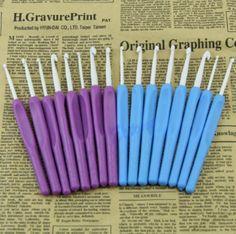 8 Sizes Ergonomic Grip Crochet Hooks Set 2.5-6.0mm - Free Shipping Worldwide