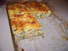 Ginny's Low Carb Kitchen: Chicken and Broccoli Quiche with Parmesan Topping