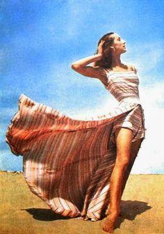 Beach fashion by Elsa Schiaparelli, ELLE Claudine July 1948