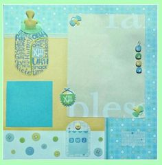 Scrapbook layout ideas for a baby boy