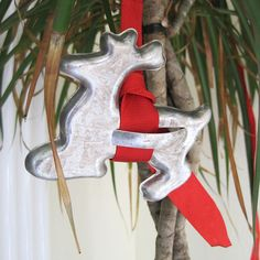 Cute idea for kitchen Christmas tree! Ornaments from cookie cutters & ribbon... | #christmasgift http://www.sweitrade.net