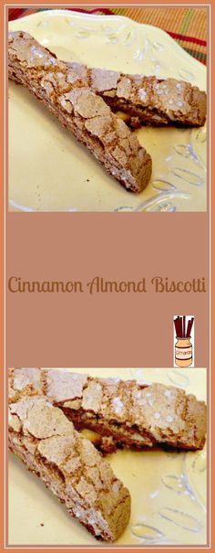 Giant Cinnamon with Biscotti Almonds – Pams Daily Dish Holiday Cookie Exchange by skinnydesserts Sweets Recipes, Just Desserts, Cookie Recipes, Delicious Desserts, Yummy Food, Recipes Dinner, Healthy Food, My Favorite Food, Favorite Recipes
