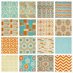 Two 50x90 Curtain Drapery Panels - Choose Designer Fabric - MANDARIN. $150.00, via Etsy.
