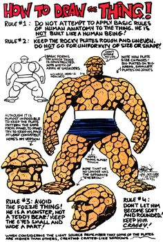 How to draw The Thing. John Byrne