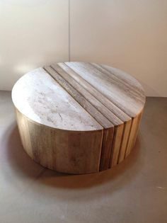 Sculptural Travertine Cocktail/Coffee Table | From a unique collection of antique and modern coffee and cocktail tables at http://www.1stdibs.com/furniture/tables/coffee-tables-cocktail-tables/