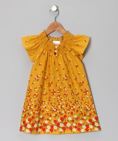 Take a look at this Goldenrod Flower Tunic - Toddler by Buckleberry Kids on #zulily today!