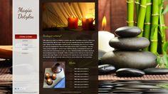 Strona www salony masażu Magia Dotyku. Inne projekty stron www dostępne są na http://www.13design.pl/