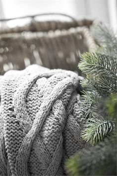 Our Winter Cabin: Cozy knitted throw Winter Christmas, Christmas Time, Natural Christmas, Nordic Christmas, Rustic Christmas, Merry Christmas, Woodland Christmas, Winter Holidays, Christmas Decor