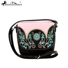 Montana West Turquoise Floral Concho Messenger Bag – Handbag-Addict.com