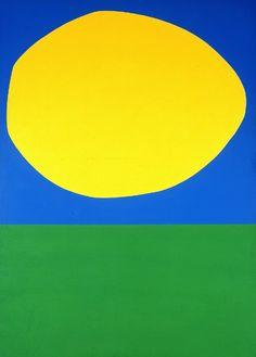 herzogtum-sachsen-weissenfels:  Ellsworth Kelly (American, 1923-2015), High Yellow, 1960. Oil on canvas,204.6 x 146.8 cm.