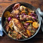 Citrus-Roasted Chicken with Grand Marnier - This dish is such a stunner and a crowd-pleaser. The depth of the Grand Marnier with the zestiness of the citrus creates the most amazing flavor. http://go.pollan.co/learnmore