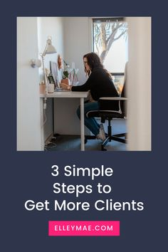 3 Simple Steps to Get More Clients Content Marketing, Social Media Marketing, Marketing Strategies, Social Media Content, Social Media Tips, Business Tips, Online Business, Family Budget, Instagram Tips