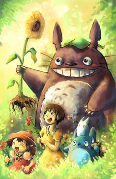 Totoro fan art by michellescribbles.deviantart.com on @deviantART
