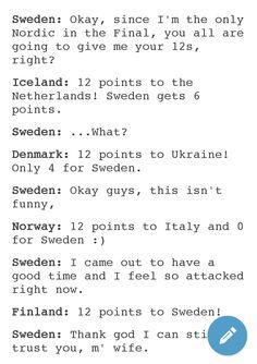 Hetalia - Nordics during Eurovision 2016 xD