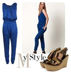 """""""My Style"""" by tuaptstore on Polyvore featuring Summer, sandals and jumpsuit"""