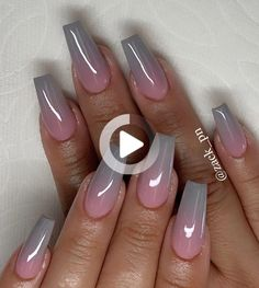20 latest ombre coffin nails styles you can try in autumn - ibaz : We collected about long ombre coffin nails styles for you,if you are you looking the style of coffin nails. Ombre Nail Designs, Acrylic Nail Designs, Nail Art Designs, Nails Design, Summer Acrylic Nails, Best Acrylic Nails, Nail Summer, Fabulous Nails, Perfect Nails