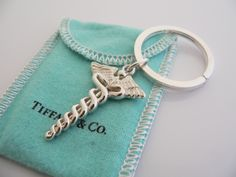 Beautiful Tiffany & Co. Keychain. Great idea for grad present