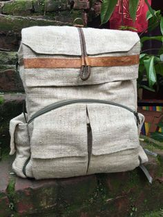 dd48bcd5dc6d Hemp backpack natural backpack eco-friendly by AlooBabaShop