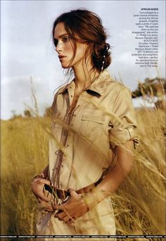 Keira Knightley for Vogue in Africa