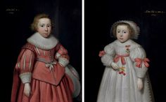 Portrait of a young boy (+ Portrait of a young girl; pair) by Cornelis Jonson van Ceulen