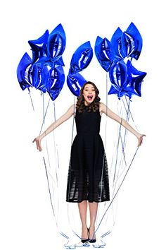 Treasures Gifted Navy Blue Birthday Decorations for Boys with Glitter Graduation Celebration, Blue Birthday, Quinceanera Party, Mylar Balloons, Photo Booth Props, Bright Lights, Birthday Balloons, Star Shape, Birthday Decorations