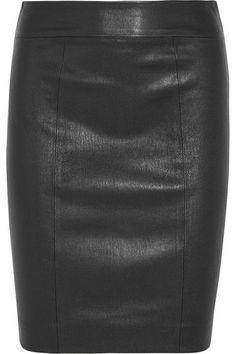 Joseph - Clara Leather Skirt - Black - FR42