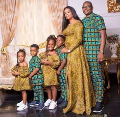 Latest African Fashion Dresses, African Print Fashion, African Fashion Ankara, African Children, African Women, African Attire, African Dress, African Theme, Family Picture Outfits