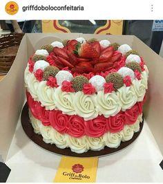 ideas fruit cake ideas birthday dessert recipes for 2019 Cake Icing, Buttercream Cake, Cake Cookies, Cupcake Cakes, Birthday Desserts, Fruit Birthday, Birthday Cakes, New Cake, Occasion Cakes
