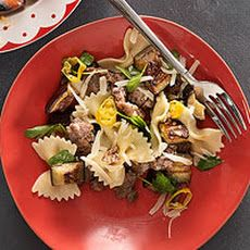 Recipe Main Dishes with sausage casings, eggplant, bow-tie pasta ...
