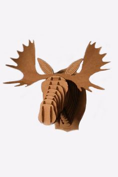 Cardboard taxidermy moose--in love with faux taxidermy!!