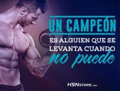 Un campeón es alguien que se levanta cuando no puede. #fitness #motivation…
