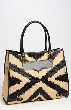 Can't get enough @Rebecca Minkoff. This one is the Diamond Straw Tote