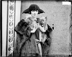Fashionable dancer/actress Irene Castle with her Griffons...