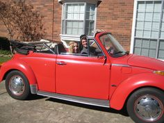 convertible super beetle- My first car... <3 (not my photo, car or me-!)