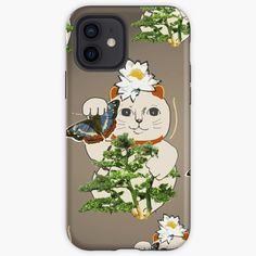Maneki Neko, Fashion Room, Iphone Case Covers, Protective Cases, Cover Design, Bonsai, Vintage Designs, Printed, Cats