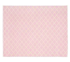 Addison Rug -  Light Pink #pbkids  Like either pink or light green