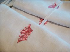 monogrammed crown napkins