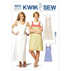 Mccall Pattern K3872 Xs-S-M-L-X-Kwik Sew Pattern
