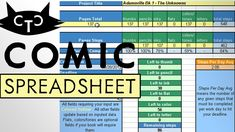 Managing the Crunch - Comic Production Spreadsheet
