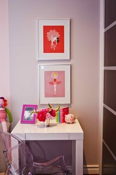 Design Reveal: A Modern Toddler Room. Love the modern take on ballet dancers #rhbabyandchild #fallinlove